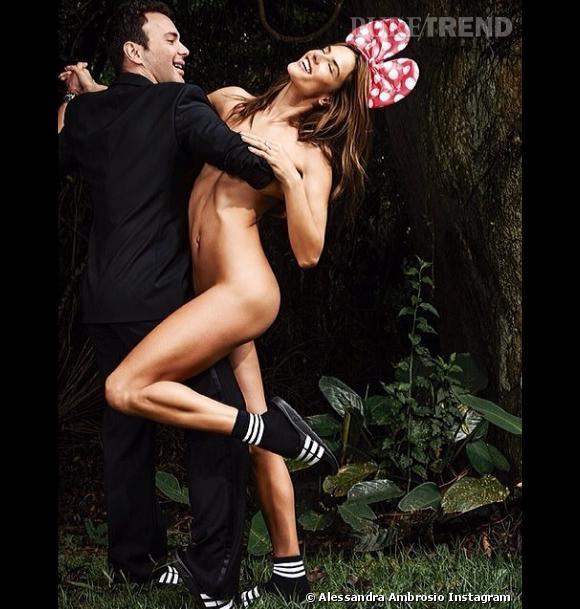 Alessandra Ambrosio toute nue pour Vogue Brésil.