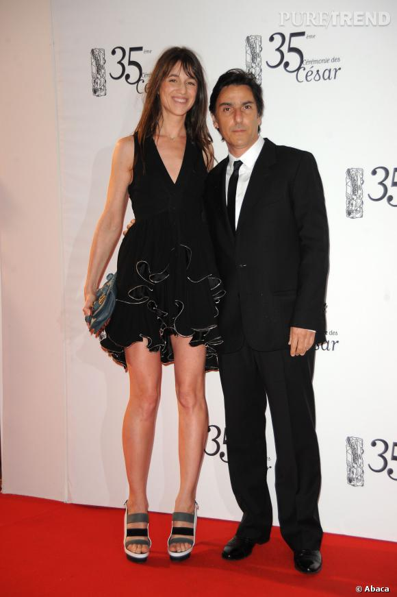 Charlotte Gainsbourg et Yvan Attal lors des César en 2010.