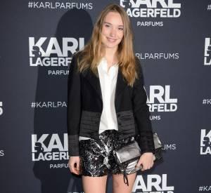 Déborah François à la soirée du nouveau parfum Karl Lagerfeldmardi 11 mars 2014.
