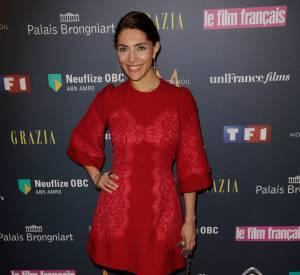 Caterina Murino, rouge fatale pour les Trophées du Film Français.