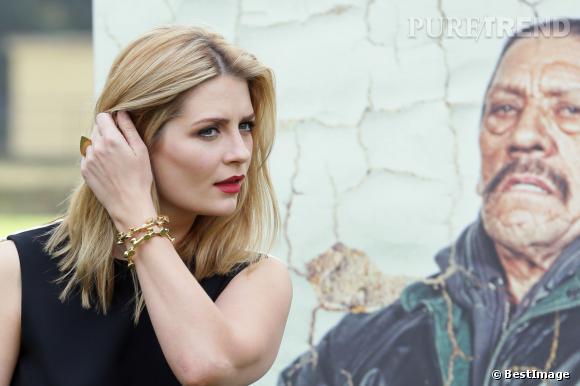 """Mischa Barton a posé pour le photocall de son prochain film, """"Hope Lost"""", en tournage à Rome."""