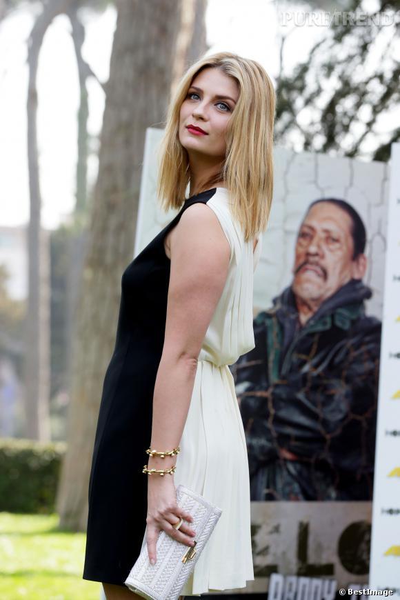 """Mischa Barton pose pour présenter son prochain film, """"Hope Lost"""", en tournage à Rome,samedi 15 mars 2014."""