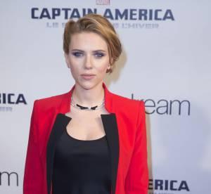 Scarlett Johansson enceinte et ultra-glamour pour Captain America à Paris