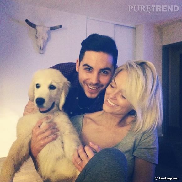Caroline Receveur est très amoureuse de son Valentin... mais aussi de son chien Island !