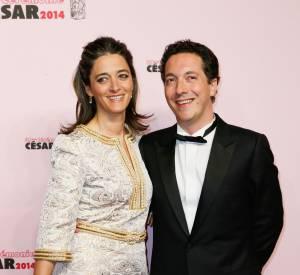 Guillaume Gallienne et sa femme Amandine lors de la 39ème cérémonie des César, le 28 février 2014.