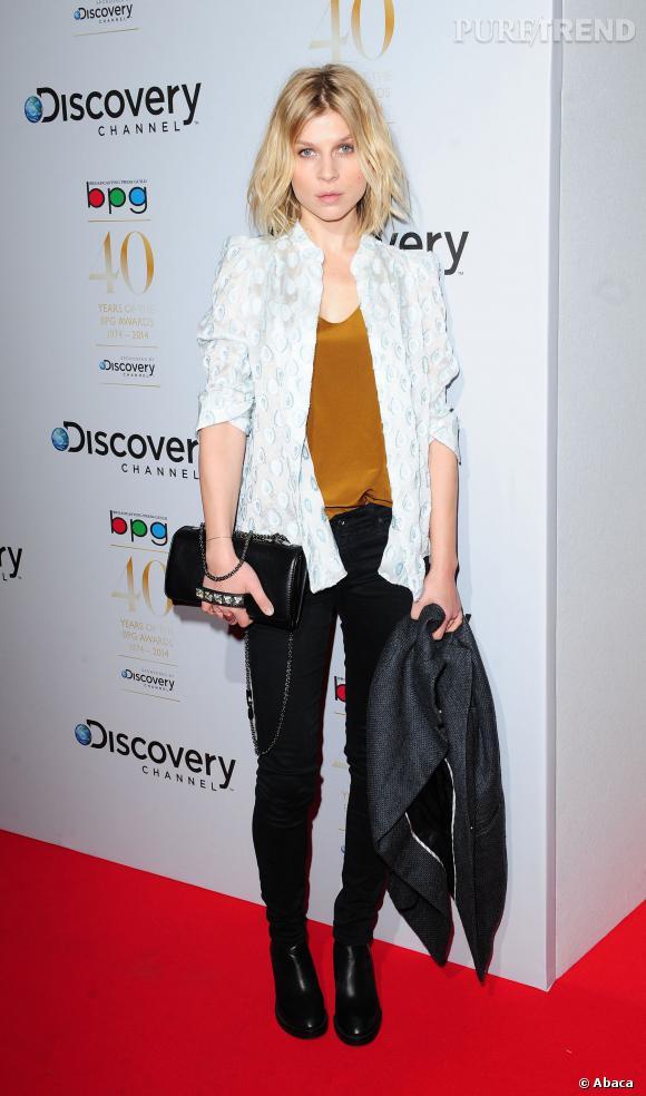 Clémence Poésy, une modeuse avertie le 28 mars 2014 à Londres.