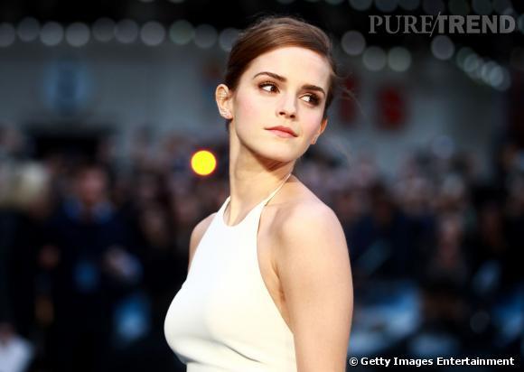"""Emma Watson à la première du film """"Noé"""" à Londres le 31 mars 2014."""
