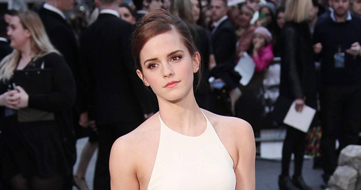 Emma watson robe blanche upskirt