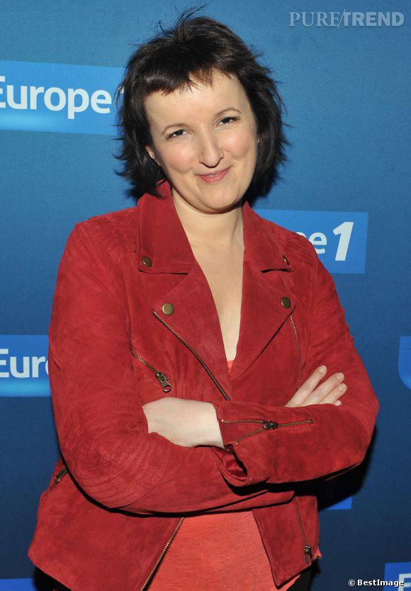 Anne Roumanoff lors du photocall de Europe 1 fait Bobino en février 2013.