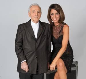 """Virginie Guilhaume a présenté l'émission """"Hier Encore"""" aux côtés de Charles Aznavour sur France 2."""