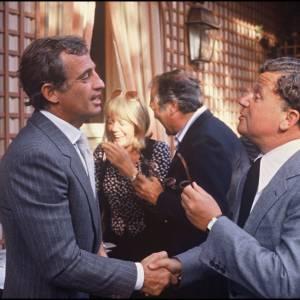 Jean-Paul Belmondo et Philippe Bouvard en 1979.