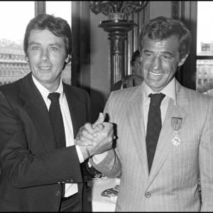 Jean-Paul Belmondo et Alain Delon en 1980.