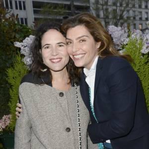 Mazarine Pingeot et Daphné Roulier au prix de la Closerie des Lilas, le 8 avril 2014.