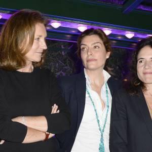 Cécilia Attias, Daphné Roulier et Mazarine Pingeaot au prix de la Closerie des Lilas, le 8 avril 2014.