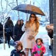 Mariah Carey et ses enfants Moroccan et Monroe en 2013.