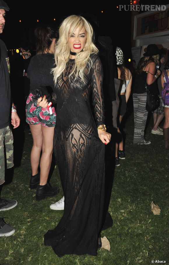 Rita Ora lors du premier week-end de Coachella à Indio en avril 2014.