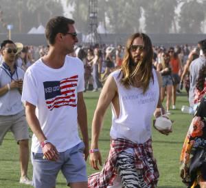 Jared Leto lors du premier week-end de Coachella à Indio en avril 2014.