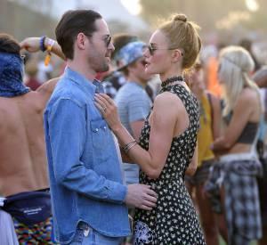 Michael Polish et Kate Bosworth lors du premier week-end de Coachella à Indio en avril 2014.