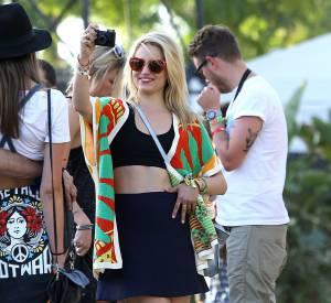 Dianna Agron lors du premier week-end de Coachella à Indio en avril 2014.