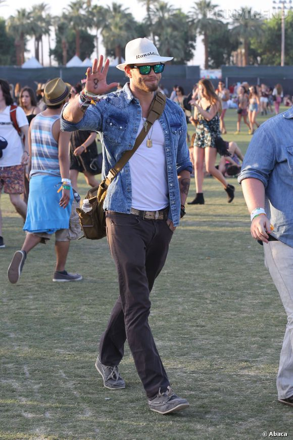 Kellan Lutz lors du premier week-end de Coachella à Indio en avril 2014.