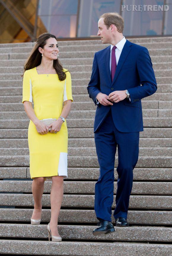 """Kate Middleton s'est attirée les railleries de William avec sa robe jaune : """"Dis donc chérie, je trouve vraiment que tu ressembles à une banane""""."""
