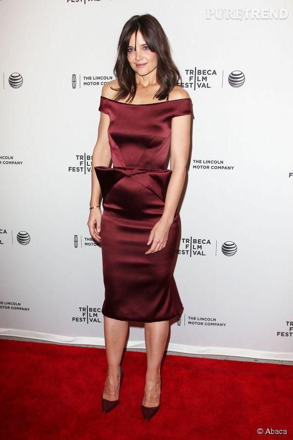 """Katie Holmes à la première du film """"Miss Meadows"""" lors du Tribeca Film Festival le 21 avril 2014 à New York."""