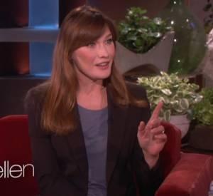 Carla Bruni était l'invitée du show d'Ellen DeGeneres le 28 avril 2014.
