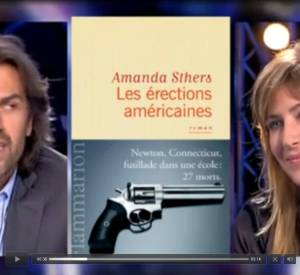 """Amanda Sthers, critiquée par Aymeric Caron dans """"On n'est pas couché""""."""