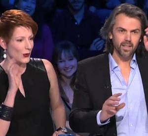 """Tensions entre Aymeric Caron et Natacha Polony sur le plateau de """"On n'est pas couché""""."""