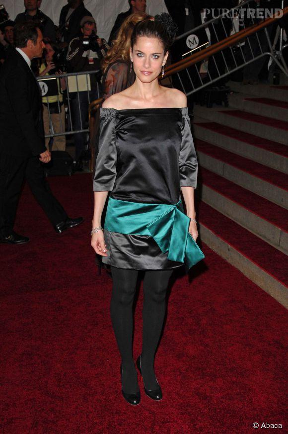 Amanda Peet lors du Met Ball 2007.