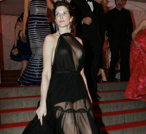 Stephanie Seymour lors du Met Ball 2008.