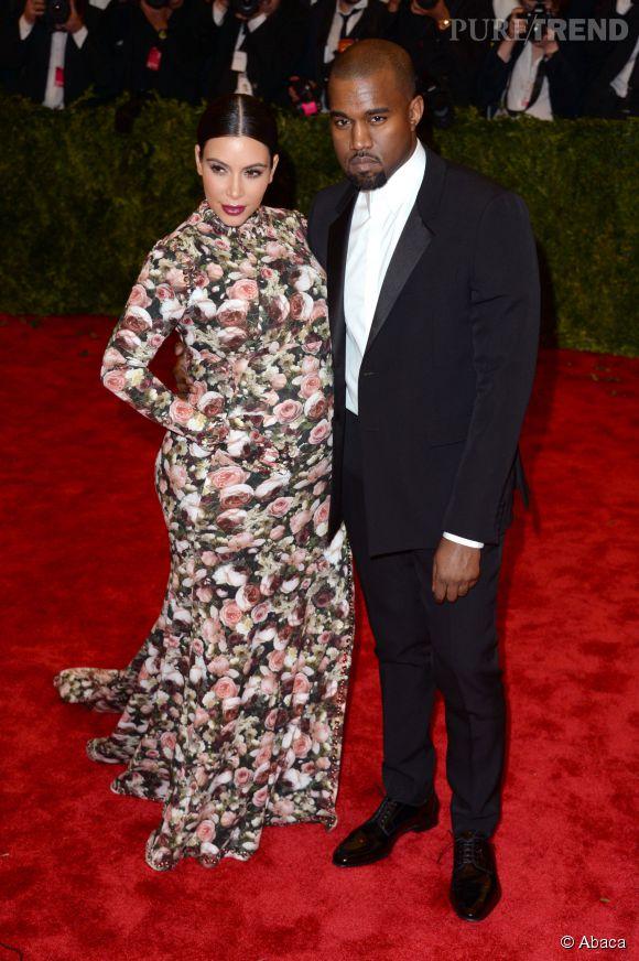 Kim Kardashian et Kanye West lors du Met Ball 2013.
