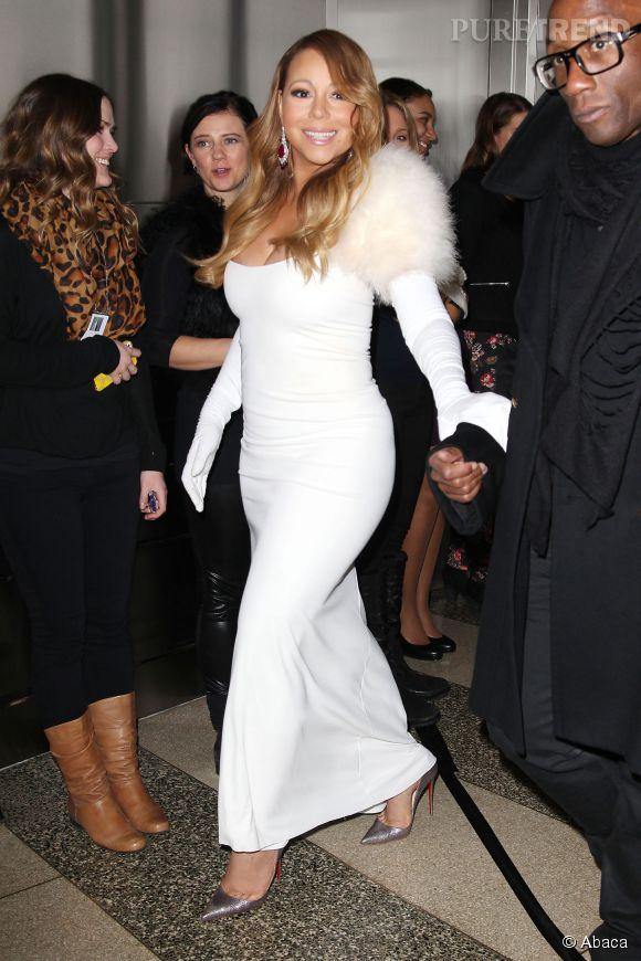 Mariah Carey lors de la St Valentin à New York en 2014.
