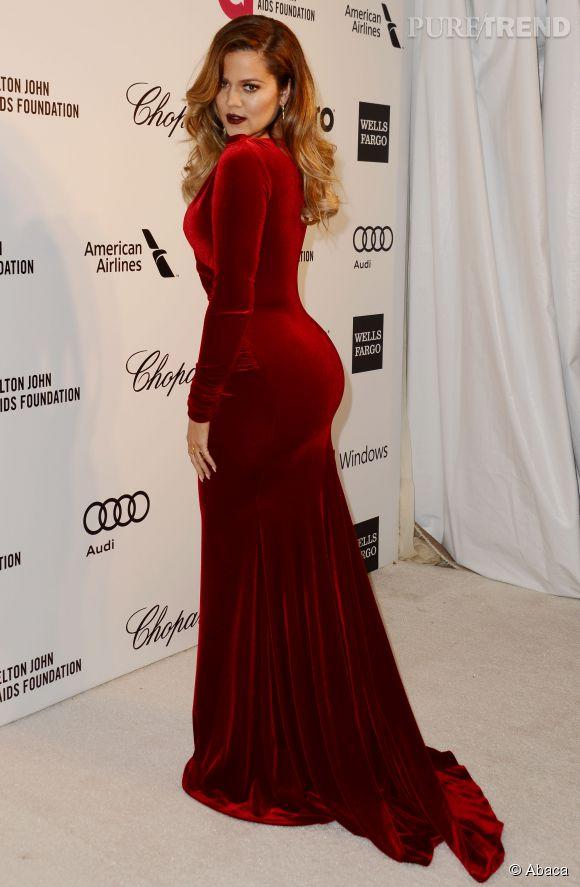 Khloé Kardashian un fessier imposant en 2014.