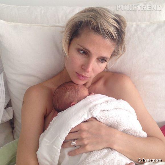 Elsa Pataky protège encore un peu le visage de ses jumeaux sur Instagram.
