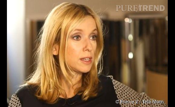 Léa Drucker en pleine interview pour Télé Matin, diffusée jeudi 8 mai.