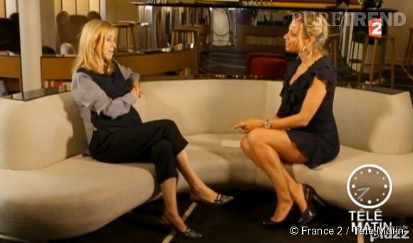 Léa Drucker et Charlotte Bouteloup en pleine interview pour Télé Matin.