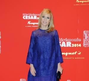 Léa Drucker avait jusqu'ici réussi à dissimuler sa grossesse, même lors de la cérémonie des César 2014.