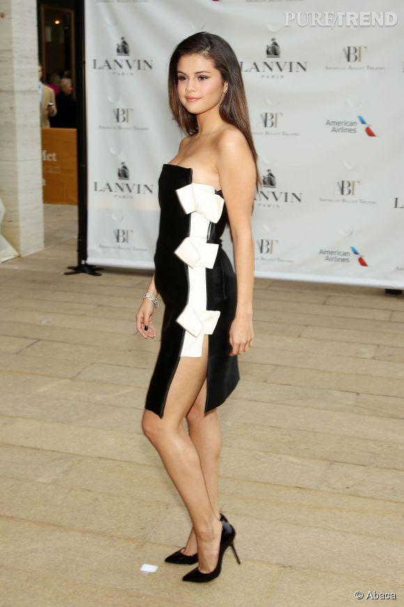 Selena Gomez porte une robe Lanvin au Gala de l'American Ballet à New-York le 12 mai 2014.