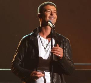 Robin Thicke veut reconquérir Paula Patton et le crie haut et fort aux Billboard Music Awards 2014 le 18 mai 2014 à Las Vegas.