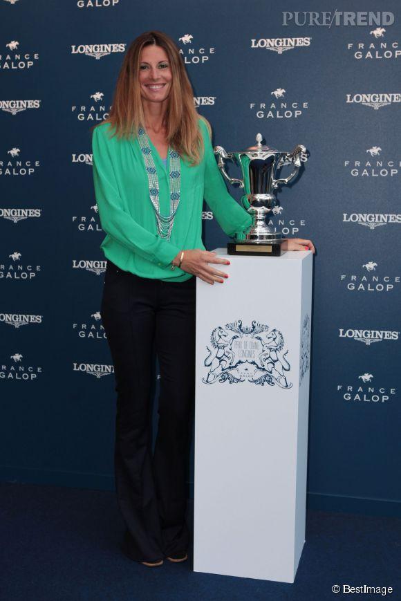 Sophie Thalmann lors de la soirée d'annonce du programme Prix de Diane 2014.