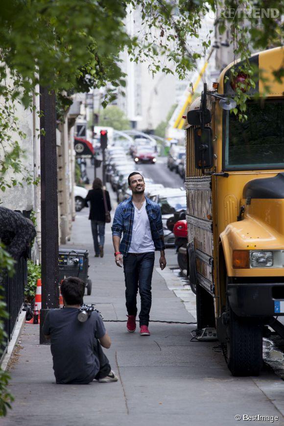Les people passent le bac sur NRJ 12, dès le 27 mai 2014. Damien Sargue participera au rendez-vous du 3 juin, on le voit ici sur le tournage de l'émission.