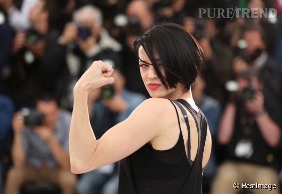 "Asia Argento, ""Wonder Woman"" lors du photocall du film ""Incompresa"" , le 22 mai 2014."