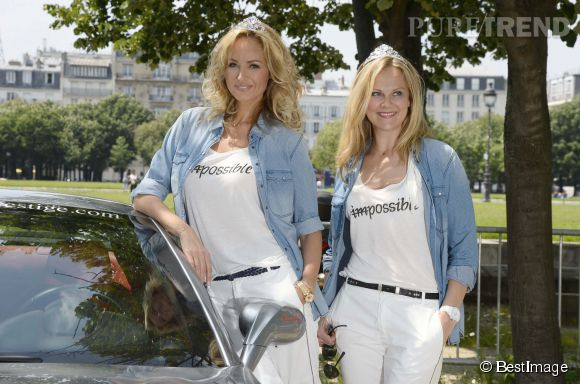 Adriana Karembeu et Natalia Sklenarikova au Rallye des Princesses le 31 mai 2014.