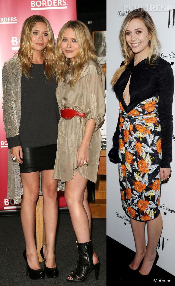 Les jumelles Ashley et Mary-Kate Olsen et leur soeur cadette Elisabeth.