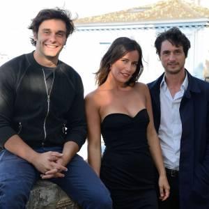 Pio Marmaï, Zoé Felix et Jérémie Elkaim au Festival du Film d'Angoulême en août 2013.