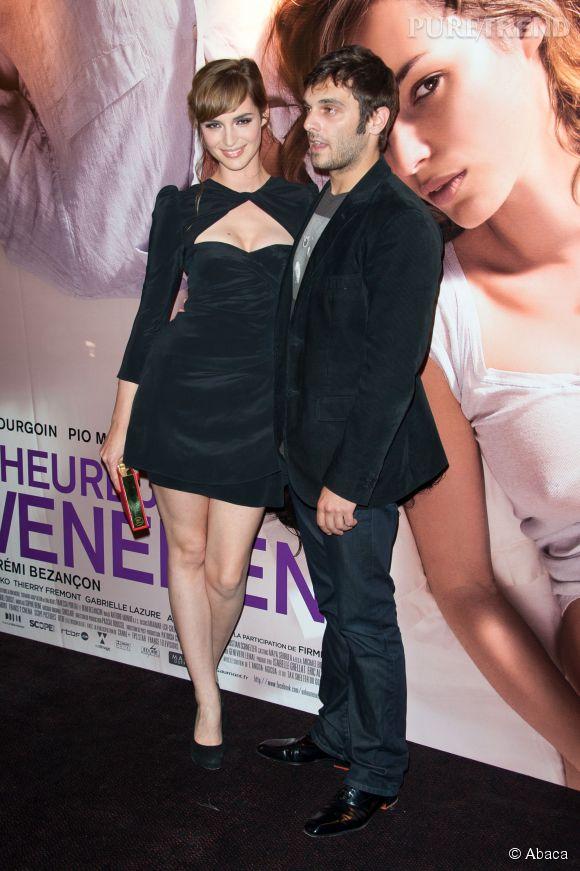 """Louise Bourgoin et Pio Marmaï à la première du film """"Un Heureux Evenement"""" en septembre 2011."""