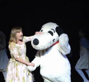Chantal Goya est la spécialiste des spectacles avec toutes sortes d'animaux.