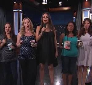 Accompagnée par d'autres femmes enceintes, Mila Kunis a fait la leçon à tous les futurs papas, sur le plateau du Jimmy Kimmel Live cette semaine.