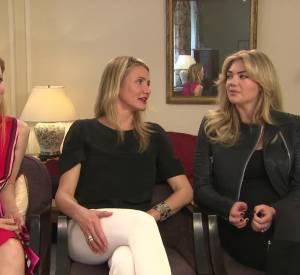 """Cameron Diaz, Kate Upton et Leslie Mann : rencontre avec les actrices de """"Triple Alliance""""."""